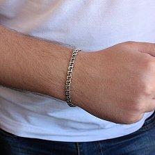 Серебряный родированный браслет Ланфорд, 5мм