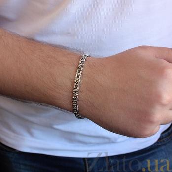 Серебряный родированный браслет Ланфорд, 5мм 000062331