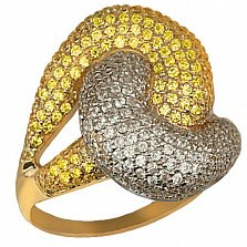 Кольцо из желтого золота Нереида