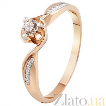 Золотое кольцо с бриллиантами Урсула KBL--К1907/крас/брил