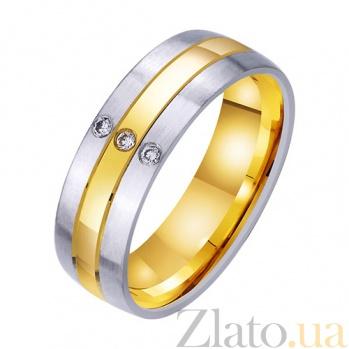 Золотое обручальное кольцо Волшебная любовь с фианитами TRF--4521746