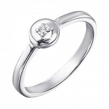 Срібна каблучка з діамантом 000123333