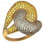 Кольцо из желтого золота Нереида VLT--ТТ1024-1
