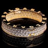 Кольцо из желтого золота Бренд с цирконием