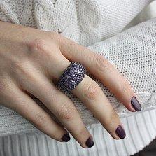 Серебряное кольцо Вега синяя