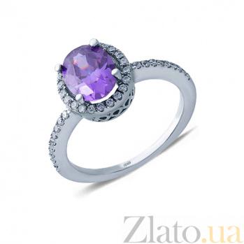 Серебряное кольцо Фиалка AQA--HR-020-1_akv