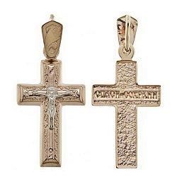 Золотой крестик Чудо исцеления 000046351