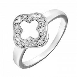 Серебряное кольцо с перламутром и фианитами 000042834