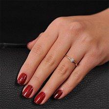 Золотое кольцо с кристаллом Swarovski Милая