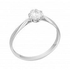 Помолвочное кольцо в белом золоте Торения с бриллиантом