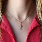 Крестик Защита свыше в красном золоте