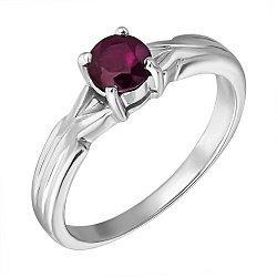 Серебряное кольцо с рубином 000135481