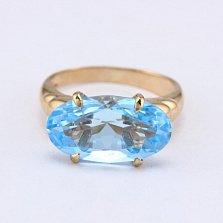 Золотое кольцо с голубым топазом Лауретта