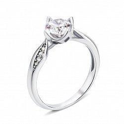 Серебряное кольцо с фианитами 000134190