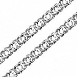 Серебряная черненая цепь Айвенго, 12мм