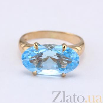 Золотое кольцо с голубым топазом Лауретта VLN--112-707-1