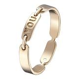Кольцо You в желтом золоте