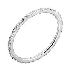 Кольцо из белого золота с фианитами 000004601