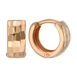 Серьги-конго из красного золота 000005497
