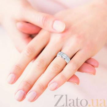 Обручальное кольцо из белого золота Тайна: Бесконечность 5793