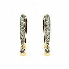 Золотые серьги с бриллиантами Анима