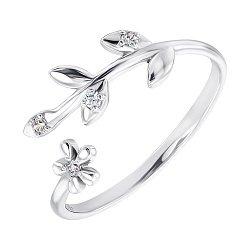 Серебряное кольцо с фианитами 000141140