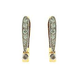 Золотые серьги с бриллиантами 000021987
