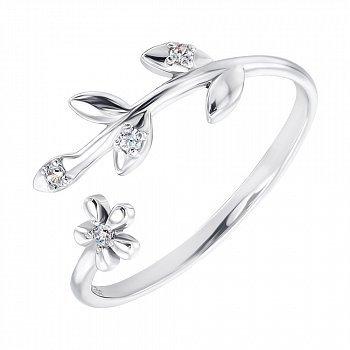 Срібне кільце з фіанітами 000141140