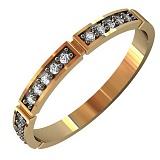 Золотое кольцо Элиза с фианитами