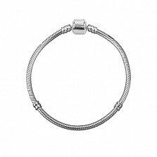 Серебряный браслет для шармов Октавиан с двумя разделителями