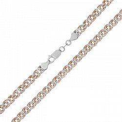 Серебряная цепь с позолотой, 3 мм 000072062