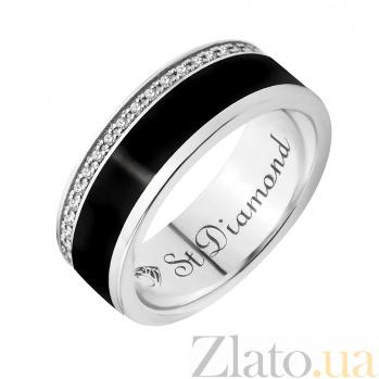 Золотое обручальное кольцо Черный ирис с бриллиантами 28739st
