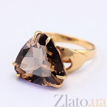 Золотое кольцо с раухтопазом Статус VLN--112-601-2