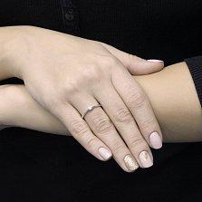 Помолвочное золотое кольцо Равенна в белом цвете с бриллиантом