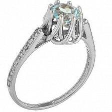 Серебряное кольцо Шарлот с топазом и фианитами