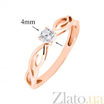 Кольцо в красном золоте Мэгги с бриллиантом 000029212