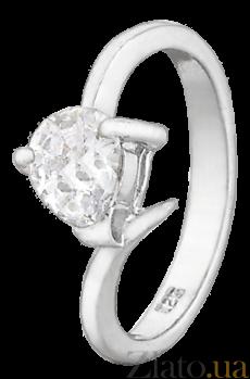 Серебряное кольцо с фианитом Кайла 000025700
