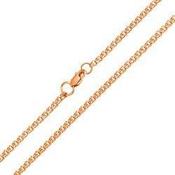 Цепочка из красного золота в плетении бисмарк, 2,5мм 0000014507