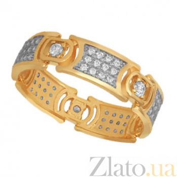 Кольцо из желтого золота с фианитами Мелинда VLT--ТТ1248