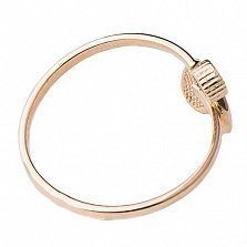 Золотое кольцо с фианитом и цветной эмалью Любовь