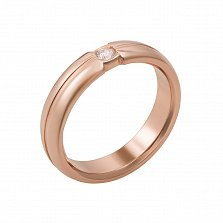 Обручальное кольцо из красного золота Признание