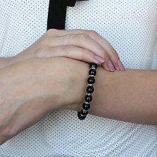 Серебряный браслет с ониксом New Look