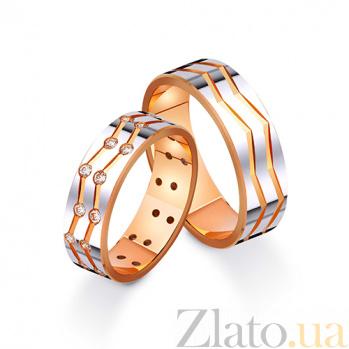 Золотое обручальное кольцо Любовная пучина с фианитами TRF--412476