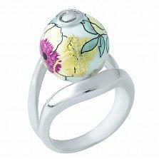 Серебряное кольцо Цветана с эмалью