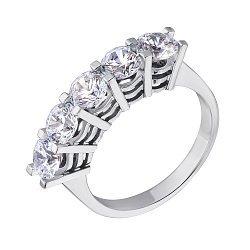 Кольцо из белого золота с цирконием Swarovski 000036780