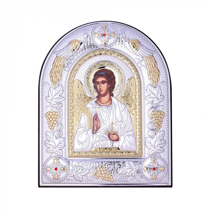 Посеребренная икона Ангел Хранитель на подставке 000131801 000131801