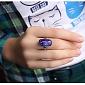Серебряное кольцо с имитацией опала Этюд 000007029