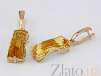 Серьги из красного золота с цитрином Хищница VLN--113-1267-8