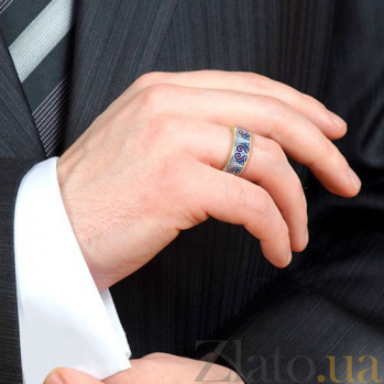 Мужское обручальное кольцо Талисман: Любви 1464