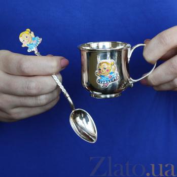 Детская чашка из серебра Балерина 2.8.0157